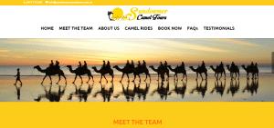 Sundowner Camel Tours - Website Image